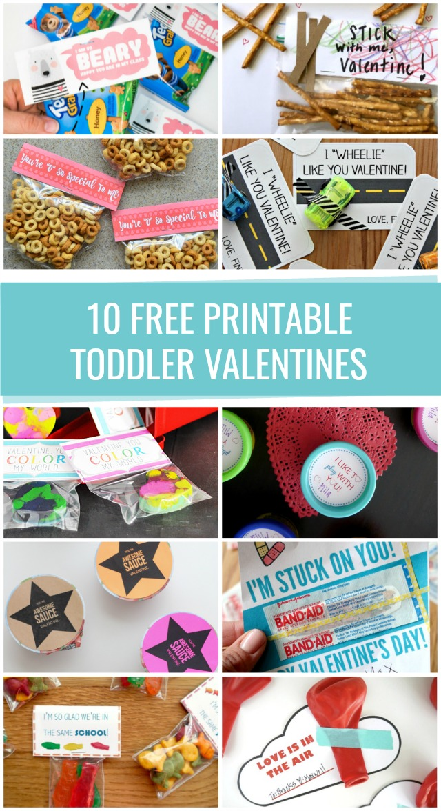 Free printable toddler Valentines