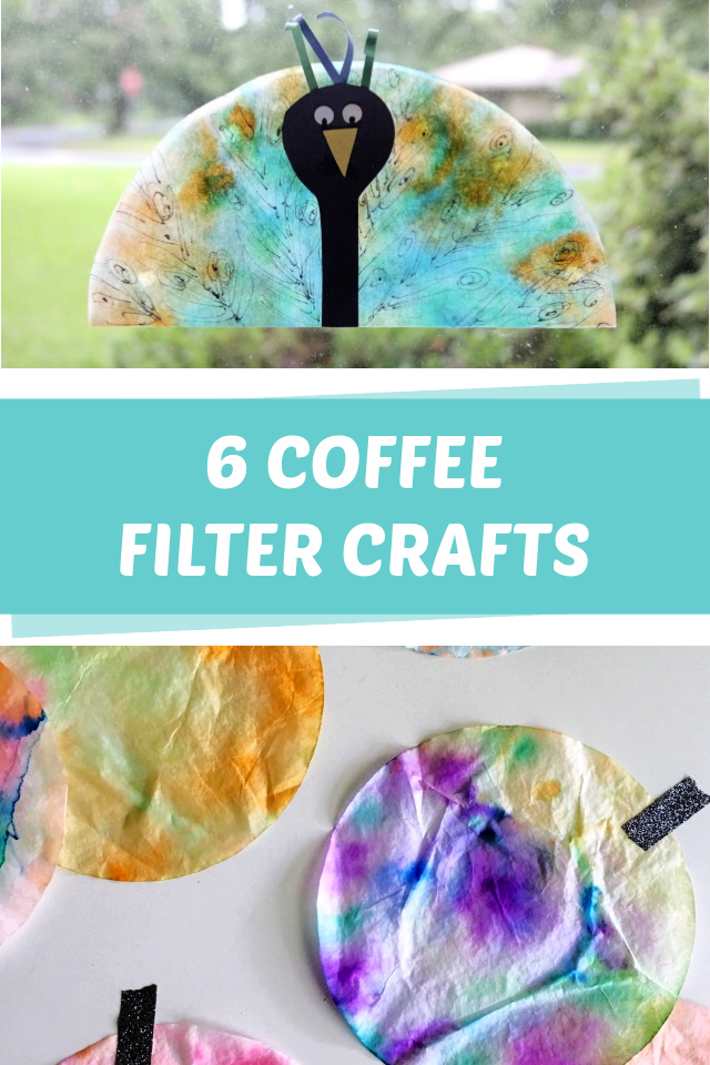 6 Coffee filter crafts