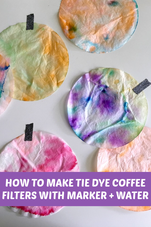 Tie dye coffee filter crafts
