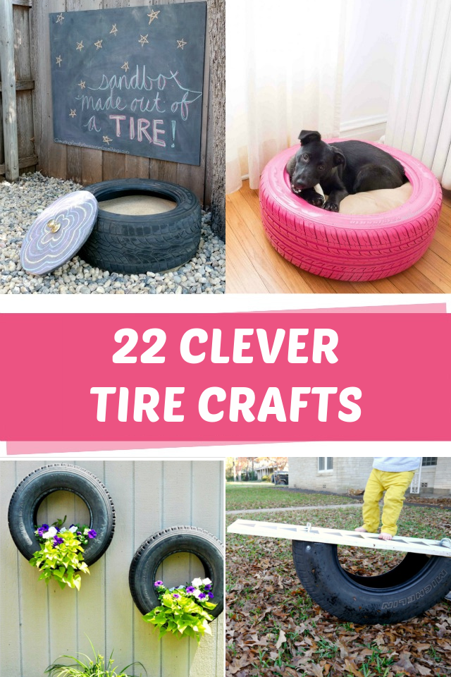 22 Clever tire crafts