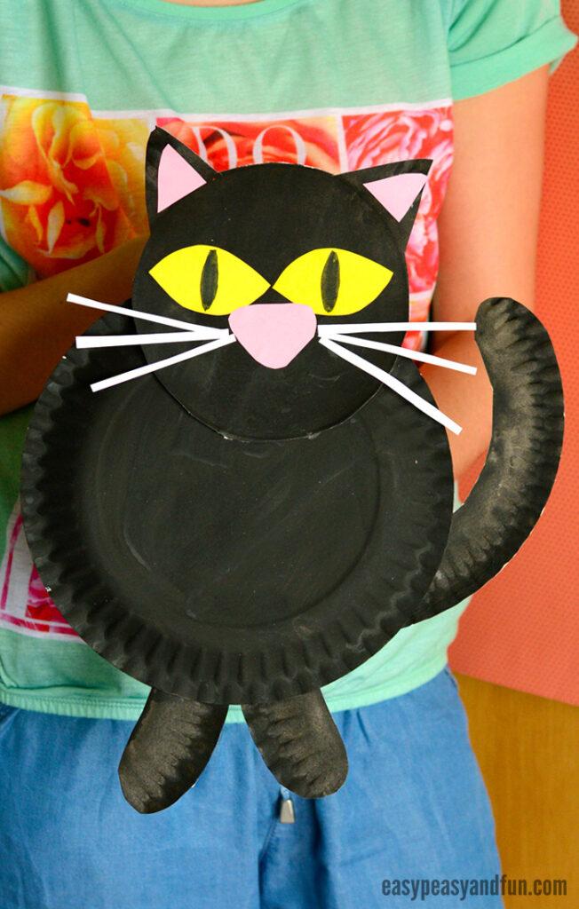 cat paper plate craft
