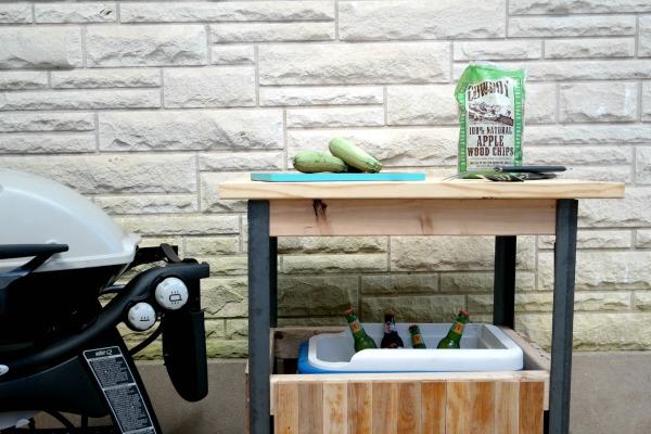 DIY grill cart