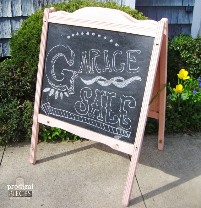 Repurpose a crib into a chalkboard
