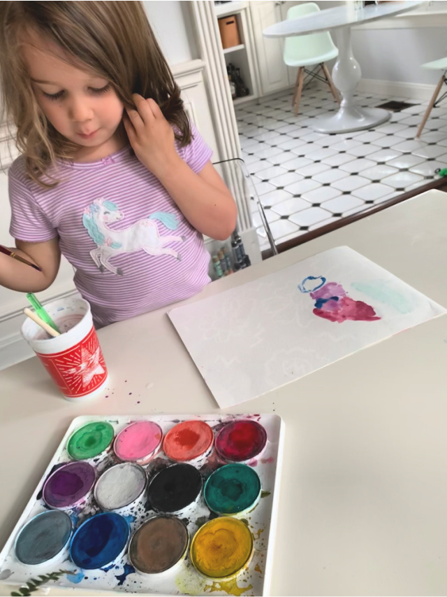 Watercolor with kids