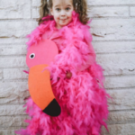 DIY flamingo costume
