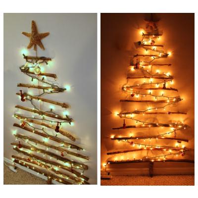 DIY Christmas tree made of sticks