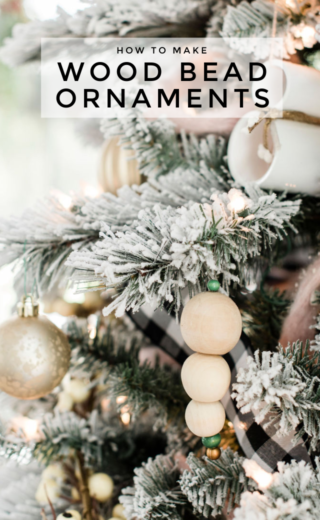 How to make wood bead ornaments