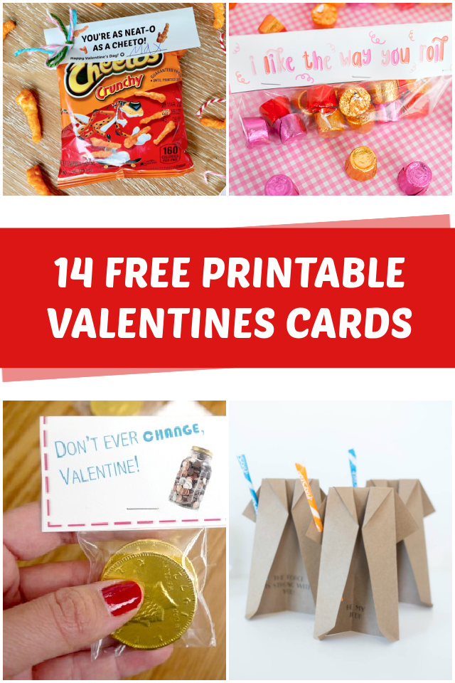 14 Free Printable Valentines Cards for kids