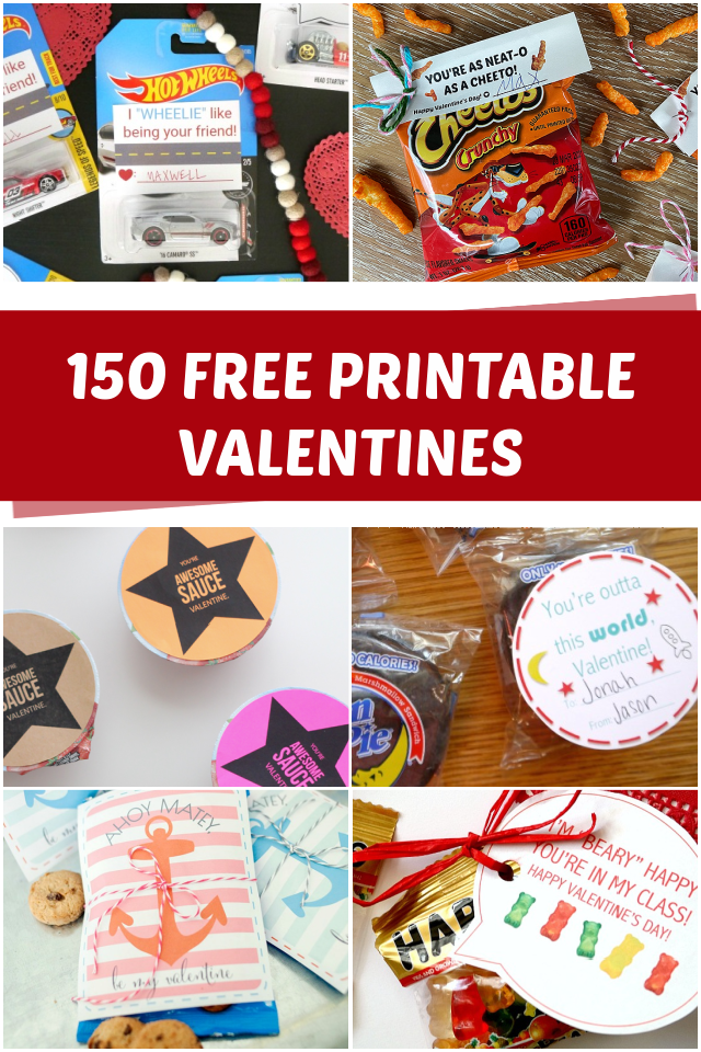 150 Free printable Valentines