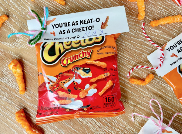 Cheeto Valentines gyerekeknek
