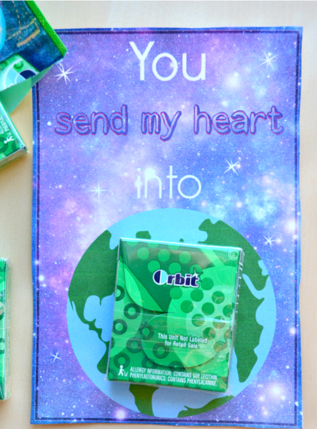 Gum Valentines Day Cards for Kids