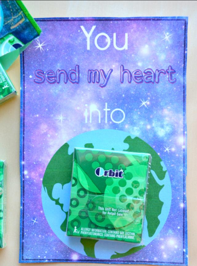 Gum Valentin-napi kártyák gyerekeknek