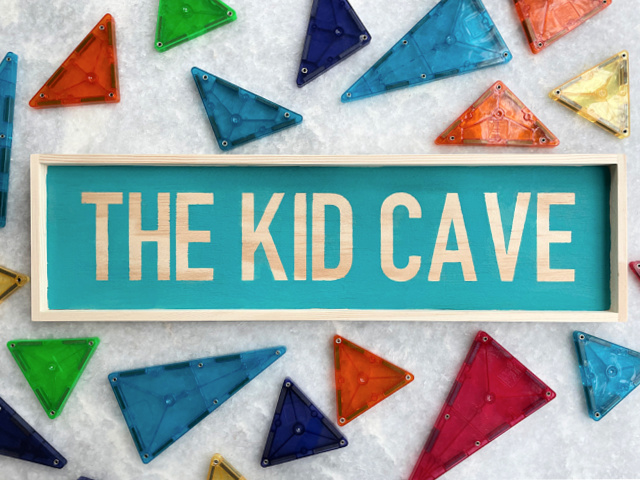 DIY kid cave sign