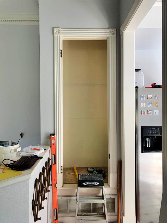 Hall closet before