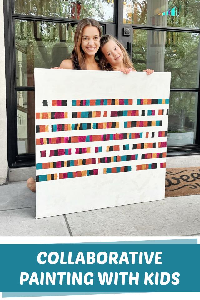 Együttműködő festészet gyerekekkel