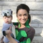Koala and tree baby costume